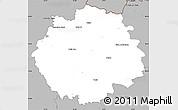 Gray Simple Map of Česká Lípa