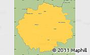 Savanna Style Simple Map of Česká Lípa