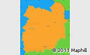 Political Simple Map of Jablonec n.N.