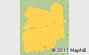 Savanna Style Simple Map of Jablonec n.N.