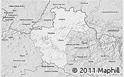 Silver Style 3D Map of Liberec