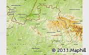 Physical Map of Liberec