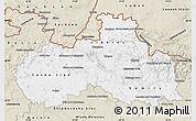 Classic Style Map of Liberecký kraj