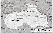 Gray Map of Liberecký kraj
