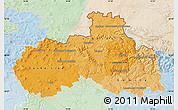 Political Shades Map of Liberecký kraj, lighten