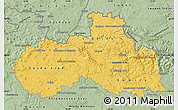 Savanna Style Map of Liberecký kraj