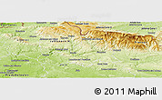 Physical Panoramic Map of Semily