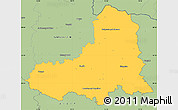 Savanna Style Simple Map of Semily