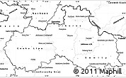 Blank Simple Map of Liberecký kraj