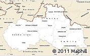 Classic Style Simple Map of Liberecký kraj