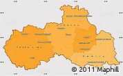 Political Shades Simple Map of Liberecký kraj, cropped outside