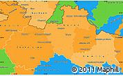 Political Shades Simple Map of Liberecký kraj, political outside