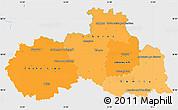 Political Shades Simple Map of Liberecký kraj, single color outside