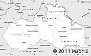 Silver Style Simple Map of Liberecký kraj