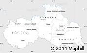Silver Style Simple Map of Liberecký kraj, single color outside