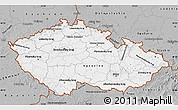Gray Map of Czech Republic
