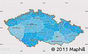 Political Shades Map of Czech Republic, cropped outside