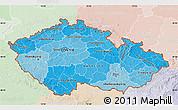 Political Shades Map of Czech Republic, lighten