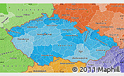 Political Shades Map of Czech Republic