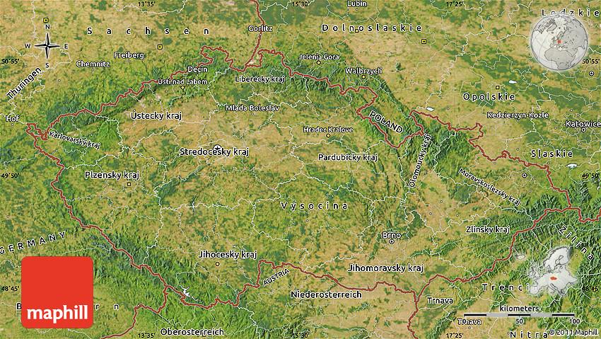 Satellite Map of Czech Republic on satellite map of saipan, satellite map of mali, satellite map of vatican city, satellite map of brunei darussalam, satellite map of prague, satellite map of abu dhabi, satellite map of the gambia, satellite map of montserrat, satellite map of caribbean islands, satellite map of the vatican, satellite map of mauritania, satellite map of iraq, satellite map of united states of america, satellite map of tunisia, satellite map of kosovo, satellite map of western europe, satellite map of qatar, satellite map of uzbekistan, satellite map of trinidad and tobago, satellite map of somalia,