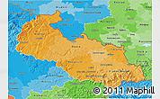 Political Shades 3D Map of Moravskoslezský kraj