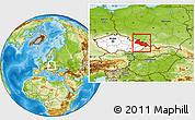 Physical Location Map of Moravskoslezský kraj, highlighted country