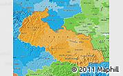 Political Shades Map of Moravskoslezský kraj
