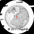 Outline Map of Jeseník