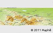 Physical Panoramic Map of Jeseník