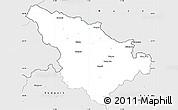 Silver Style Simple Map of Jeseník