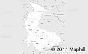 Silver Style Simple Map of Olomoucký kraj