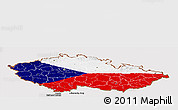 Flag Panoramic Map of Czech Republic
