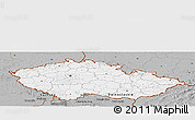 Gray Panoramic Map of Czech Republic