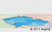 Political Shades Panoramic Map of Czech Republic, lighten