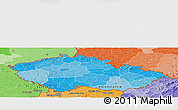 Political Shades Panoramic Map of Czech Republic