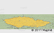 Savanna Style Panoramic Map of Czech Republic