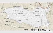 Classic Style 3D Map of Pardubický kraj