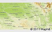 Physical 3D Map of Pardubický kraj