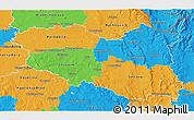 Political 3D Map of Pardubický kraj