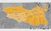 Political Shades 3D Map of Pardubický kraj, desaturated