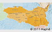 Political Shades 3D Map of Pardubický kraj, lighten