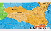 Political Shades 3D Map of Pardubický kraj