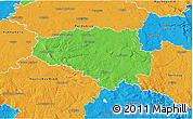 Political 3D Map of Chrudim