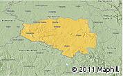 Savanna Style 3D Map of Chrudim