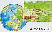Physical Location Map of Pardubický kraj