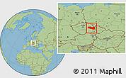 Savanna Style Location Map of Pardubický kraj