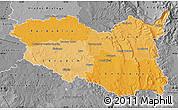 Political Shades Map of Pardubický kraj, desaturated