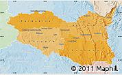 Political Shades Map of Pardubický kraj, lighten