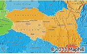 Political Shades Map of Pardubický kraj