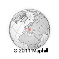 Outline Map of Pardubický Kraj